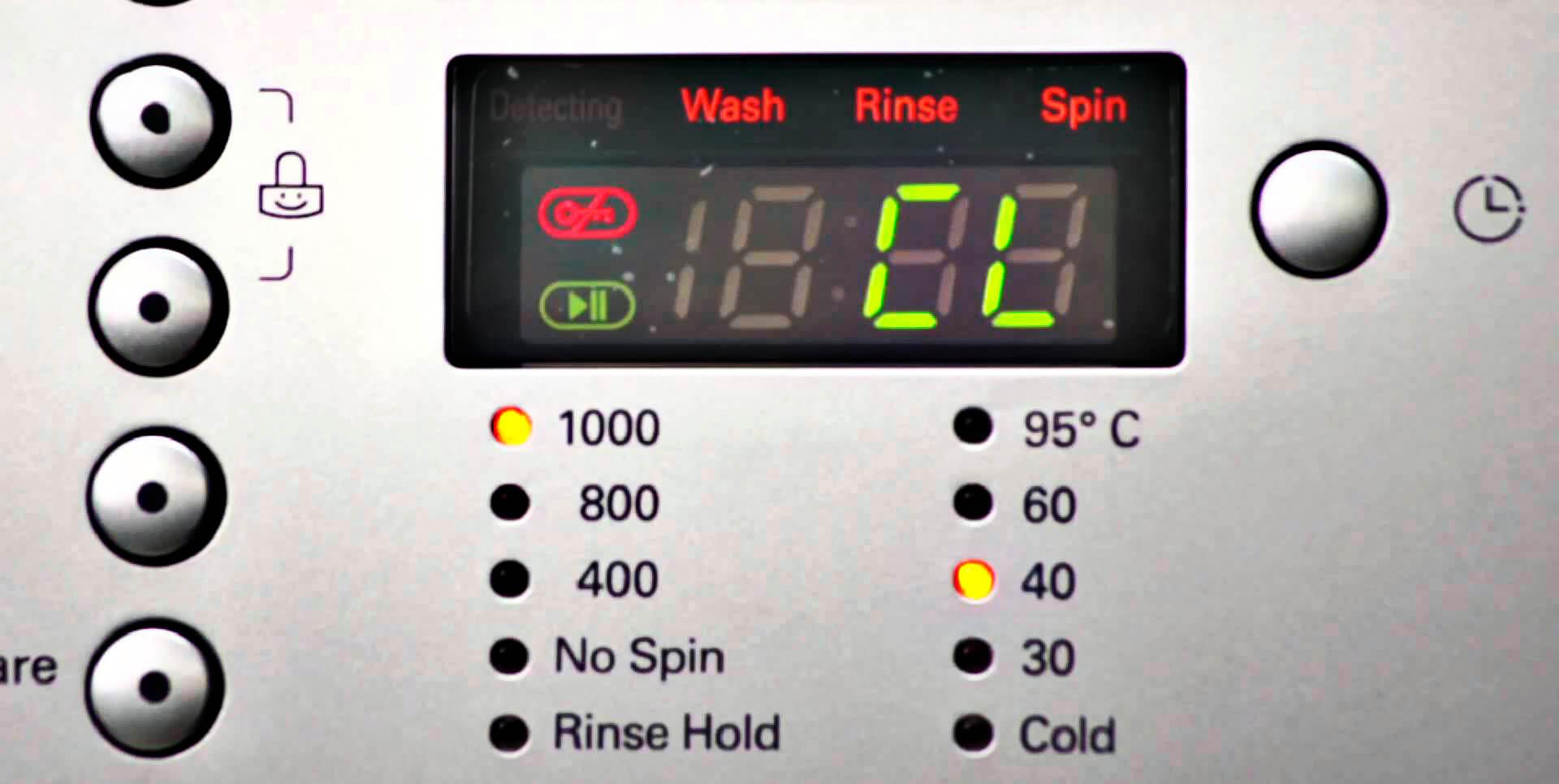 کد خطای CL در ماشین لباسشویی ال جی