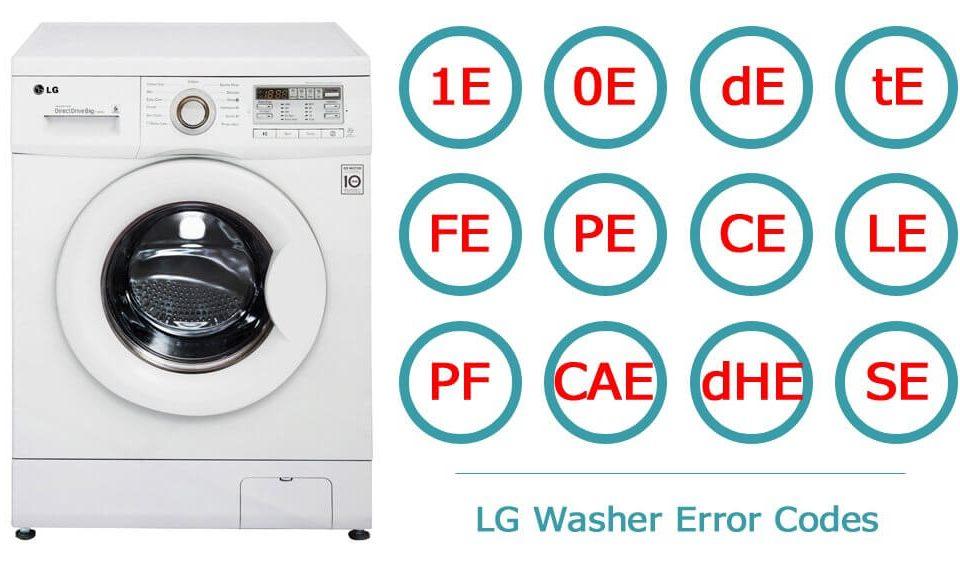 کدهای خطا و عیب یابی ماشین لباسشویی ال جی