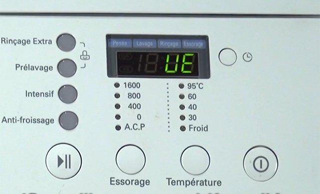 کد خطای UE در ماشین لباسشویی ال جی