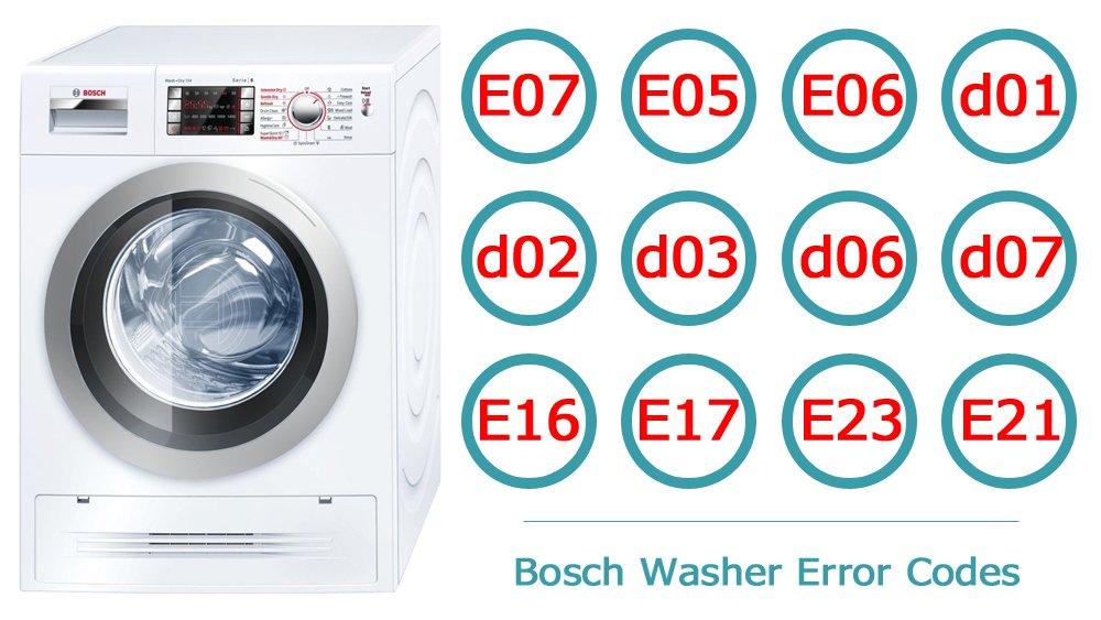 کدهای خطا و عیب یابی ماشین لباسشویی بوش