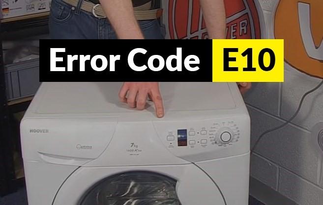 کد خطای E10 در لباسشویی هاردستون